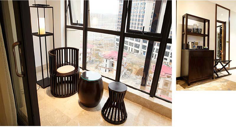 新中式酒店套房实木椅子 M-TFJ01 广东酒店家具品牌
