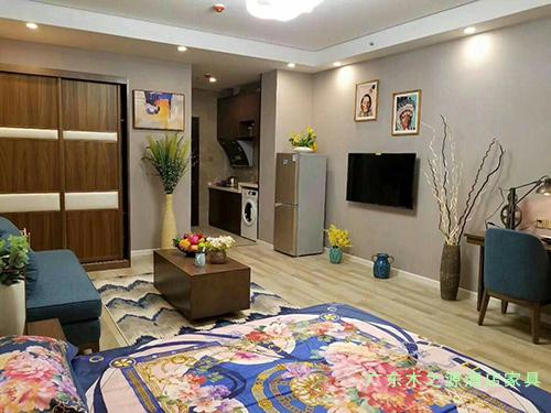 青海西宁新千金陵公寓卧室家具图