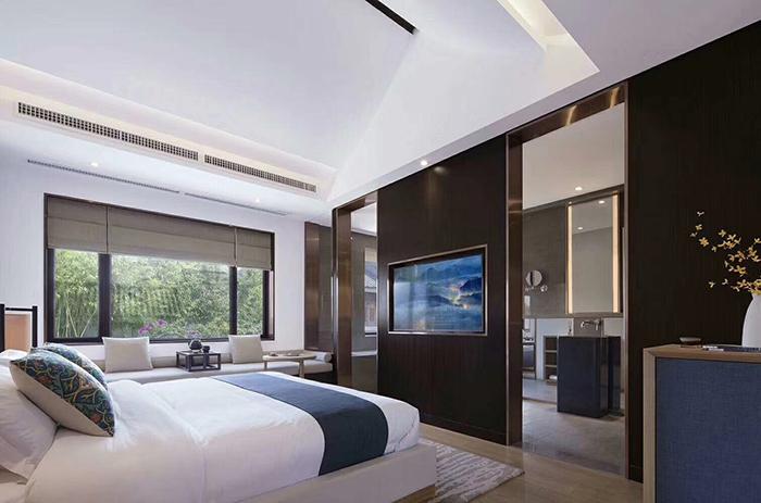 中式酒店客房家具侧面图