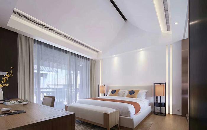 新中式酒店客房家具侧面图