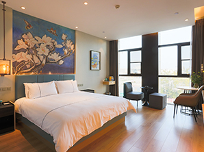 现代酒店客房家具 单人双人床 HY-F201