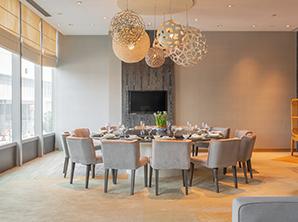 酒店宴会家具定制实木圆桌 餐椅 HY-F212